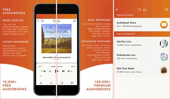 Free Audiobooks HQ es otro servicio de aplicación gratuito para iPhone y iPad.