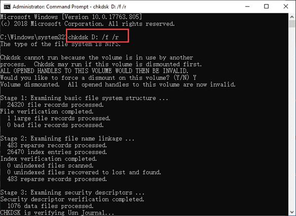 Fix Hard Drive Not Accessible with CHKDSK Command