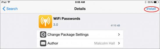 Utilisez les applications gratuites pour visualiser le mot de passe Wifi sur iPad/iPhone débridé (dévérouiller)