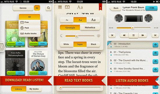NeoBook es otra aplicación de audiolibros gratuita para iPhone.