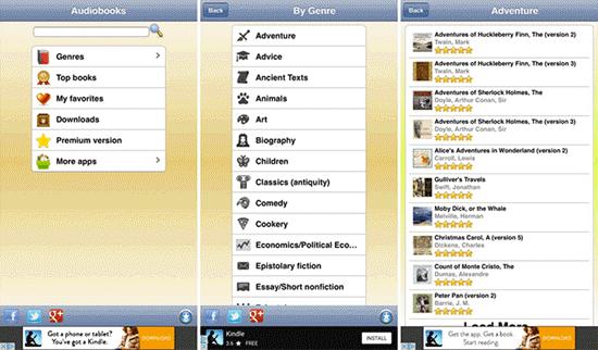 LibriVox Audiobooks es una aplicación gratuita de audiolibros para iPhone, iPad y iPod.