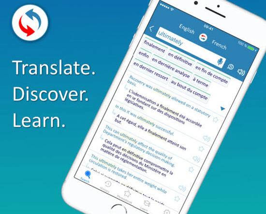 La app Reverso Translation es la mejor herramienta de traducción en tu dispositivo Apple.