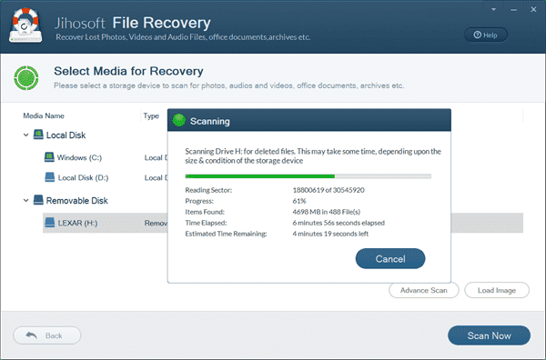 Select the Crashed Hard Drive and Scan Now.