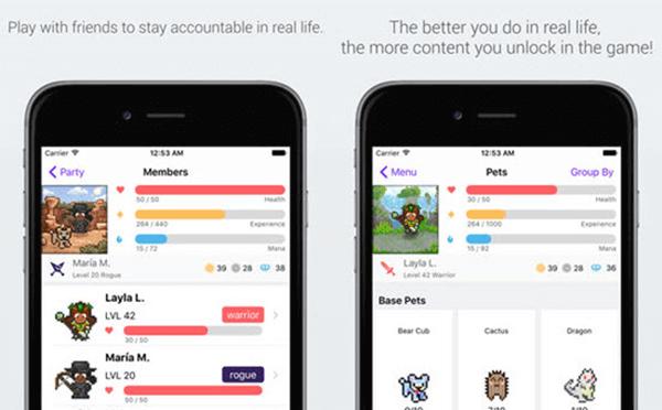 Habitica ist eine völlig andere Art von App für Aufgabenlisten To-Do-App für das iPhone und der Unterschied ist sichtbar, wenn Sie die App starten.