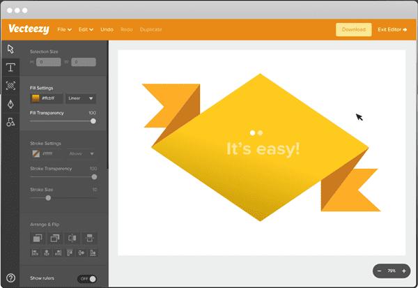 Vecteezy is another free vector editor online.