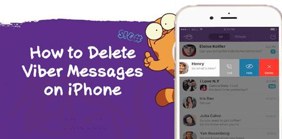 Wie kann man Viber-Nachrichten auf Ihrem iPhone löschen?
