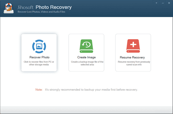Run Jihosoft Photo Recovery and choose Recover Photo.