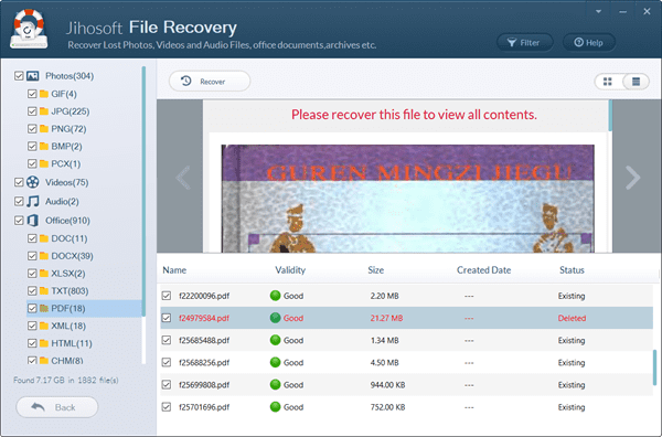 Preview and Recover Permanently Deleted Files from PC.