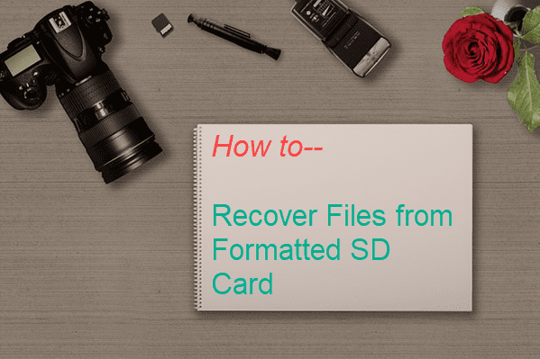 Recover Formatted SD Card for Deleted Files.
