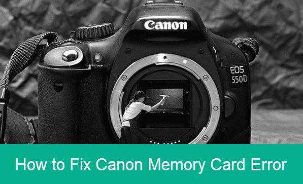 Memory Card Error in Canon Camera.