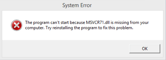 DLL Is Missing from Your Computer Windows.