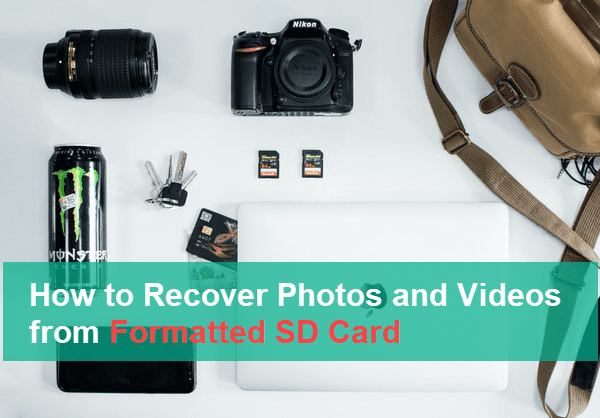 we are going to introduce the solution for recovering photos from SD card after formatting.