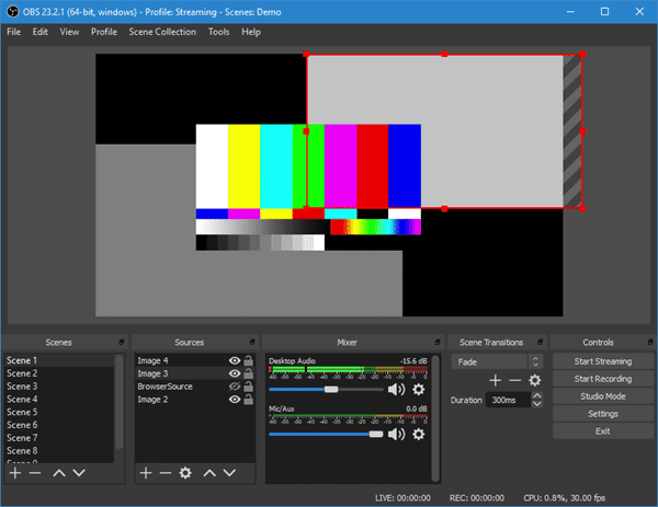 OBS Studio is a free and open-source software available on Windows, Mac and Linux.