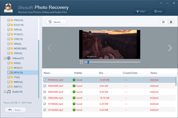 Preview and Recover Photos from Formatted SD Card