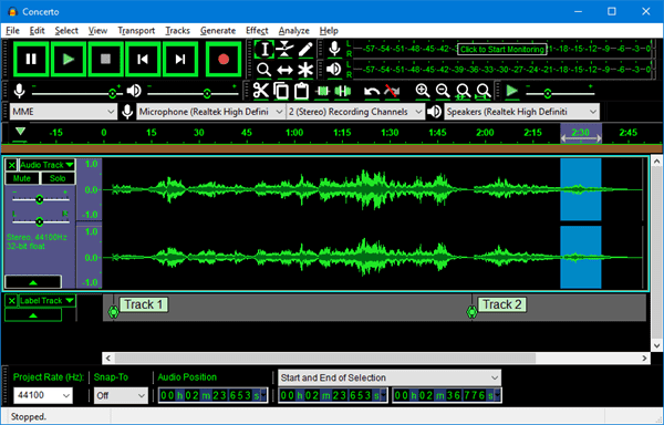 Audacity is a multi-track audio editor and recorder for Windows, Mac and Linux users.