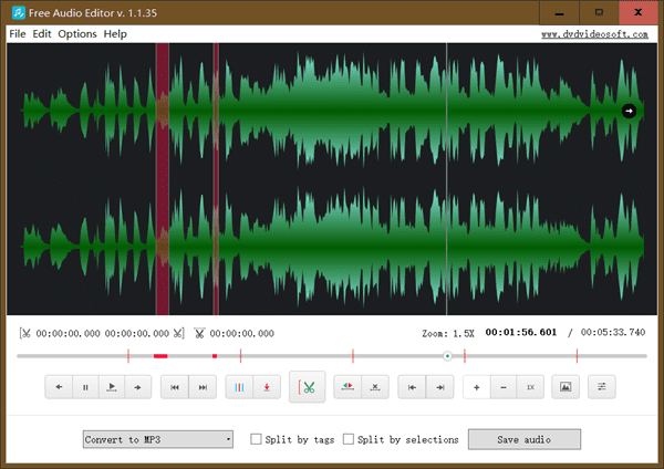 DVDVideoSoft is User-Friendly Free Audio Editor for Windows.