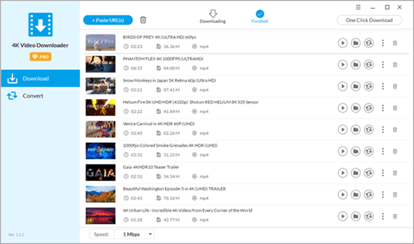 If you prefer easy operation and high downloading speed, you will find the winner as Jihosoft 4K Video Downloader.