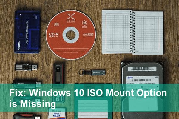 Windows 10 No Option Mount ISO Files.